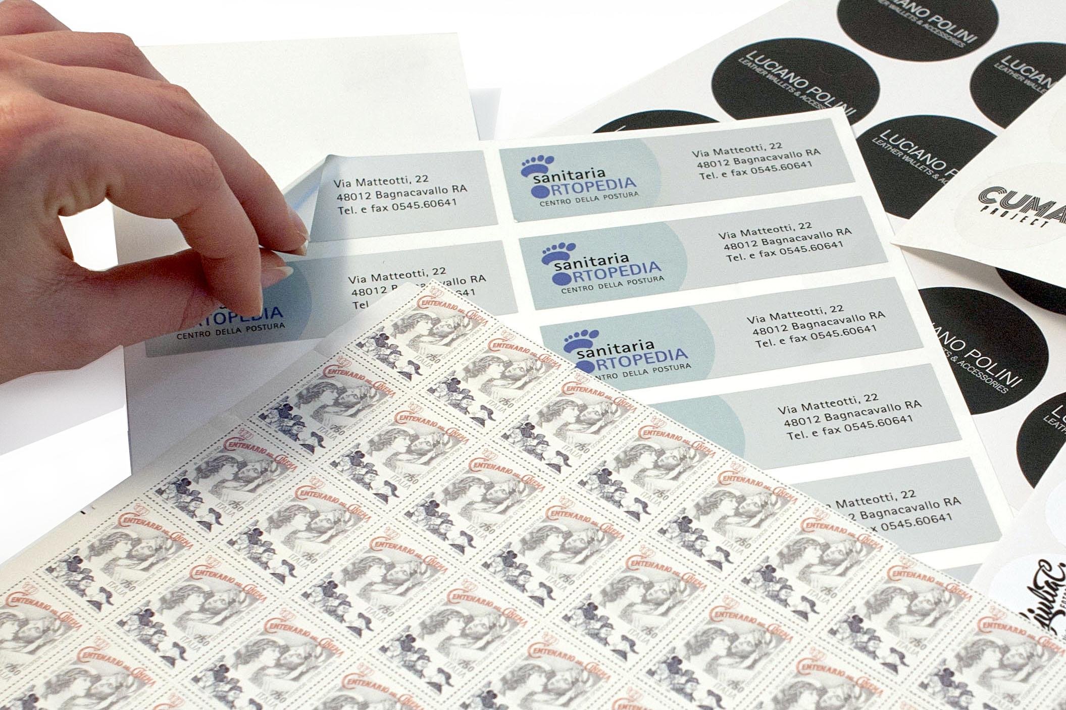 Etichette un pvc metallizzato